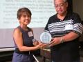 V. San Juan receives plaque ofAllen Bacallan